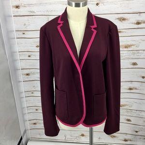 Gap Academy Blazer maroon pink polka dot lining 16